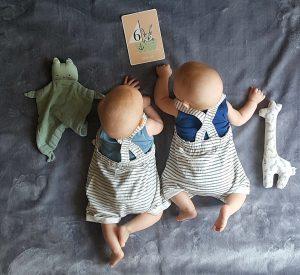 Die Zwillinge sind nun ein halbes Jahr auf der Welt. Unglaublich.