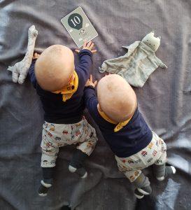 Unsere Zwillinge sind 10 Monate alt.